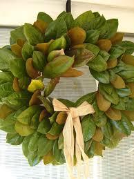 magnolia wreath with ribbon wallowaoregon magnolia wreath