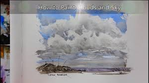 how to paint clouds and sky simple watercolor technique with just