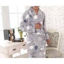 robe de chambre polaire robe de chambre polaire homme grise bateaux liseré lepeignoir fr
