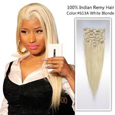 owigs clip ins 14 white 613a indian remy clip in hair