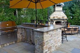 outdoor kitchen idea backyard outdoor kitchen idea with pergola and kitchenette