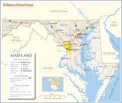 maryland map capital maryland map travel across the usa
