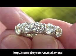 large diamond rings vintage 2 52ct large diamond 5 anniversary ring platinum 18k