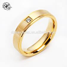 gold ring design high pilishing smooth stainless steel simple gold ring