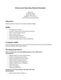 Resume Resume Samples For Secretary by Executive Secretary Resume Objective Example Sample Resumes