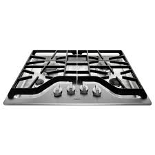 30 Stainless Steel Gas Cooktop Maytag 30 In Gas Cooktop In Stainless Steel With 4 Burners