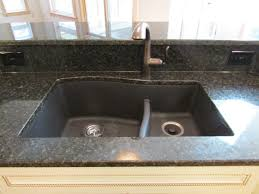 Swanstone Kitchen Sink by Swanstone Granite Undermount Sink Combined With Uba Tuba Granite