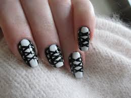 black nail art designs u2013 acrylic nail designs