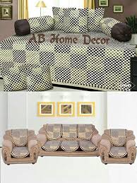 ab home decor ab home decor check design sofa cover set and diwan set combo at