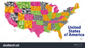 Detailed Map Of United States by Us Maps Usa State Maps Vector Color Map Nebraska State Usa Stock