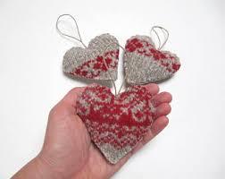 heart ornament etsy