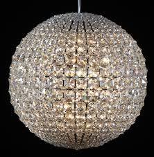 Crystal Chandelier Ball Modern Pendant Lamp Crystal Ball Fixture Ceiling Light Beautiful