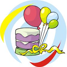 birthday balloons and cake clip art clipart panda free clipart