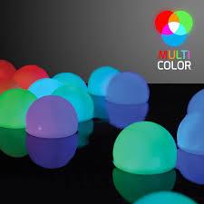set of 12 mood light garden deco balls light up orbs