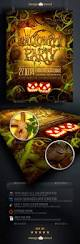 spooky forest halloween party flyer template by design cloud