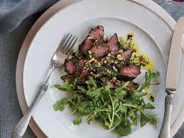hanger steak with herb nut salsa recipe naomi pomeroy food u0026 wine
