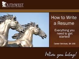 how to write a resume everything you need to get started career