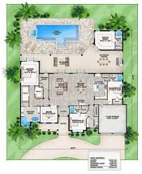 florida house plans with pool coastal contemporary florida house plan 52921 level one florida