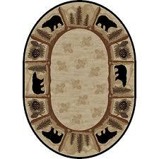 Oval Area Rugs Polypropylene Animal Print Oval Area Rugs Ebay