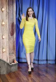 or hmm lily collins u0027s late night with jimmy fallon versace