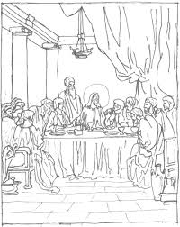 Free Coloring Page The Last Supper Schola Rosa Co Op Home Last Supper Coloring Page