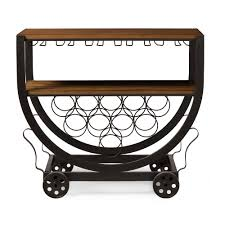steampunk rolling bar cart modern furniture u2022 brickell collection