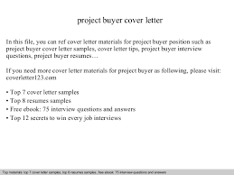 Junior Buyer Resume Sample by Project Buyer Cover Letter