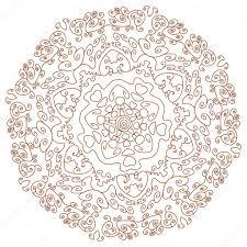 circular ornament mehndi henna tattoo mandala u2014 stock vector