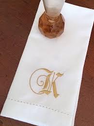 wedding napkins fairy tale monogrammed embroidered cloth wedding napkins white