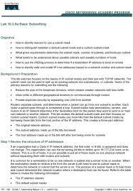 subnetting tutorial ccna lab a basic subnetting pdf