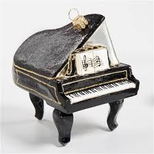 black piano glass ornament the cottage shop