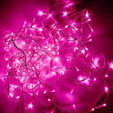 baby pink led dot lights