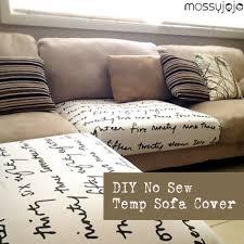 Material For Covering Sofas Mossyjojo Diy No Sew Temp Sofa Cover A Quick Solution For Kid U0027s