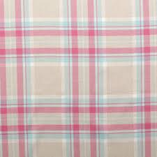 Pink Tartan Curtains 100 Cotton Tartan Check Pastel Plaid Faux Wool Sofa Curtain