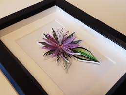 flower quilled paper art in frame quilling modern home decor
