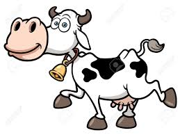 vector illustration of cartoon cow royalty free cliparts vectors