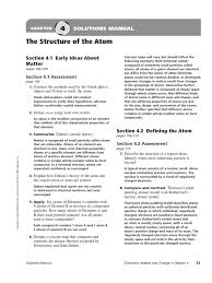chapter 4 assessment solution manual the structure of the atom