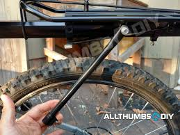 bike rack rear mounting rack side support legs b fl