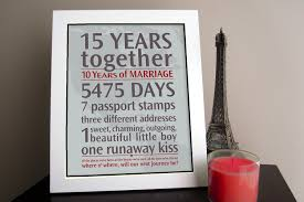 15th anniversary gift ideas for him 15th wedding anniversary gift ideas for tbrb info