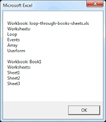 loop through books and sheets in excel vba easy excel macros