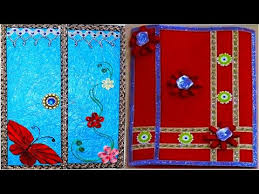 file cover design handmade how to decorate project file cover easily youtube