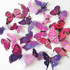 Butterfly 3d Wall Art by 15 Colors 12pcs Lot Pvc Butterfly 3d Wall Sticker Home Art Design