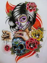 day of the dead design by frosttattoo on deviantart