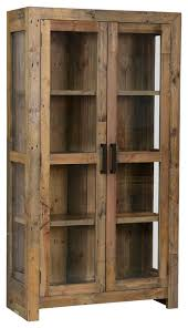 reclaimed wood curio cabinet awesome distressed curio cabinet distressed curio cabinets