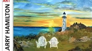 paint along with larry hamilton feb 18 2016 portland head lighthouse