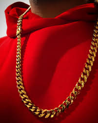 red gold necklace images Cuban miami gold chain ancient aura jewelry JPG