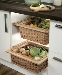 wicker kitchen baskets for 400 600 mm width cabinets with runners