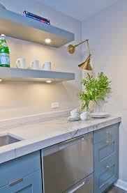 floating kitchen shelves with lights stacked gray floating kitchen shelves contemporary kitchen