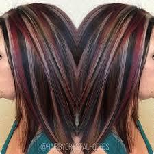 chunky short haircuts chunky highlight red blonde brown http niffler elm tumblr com