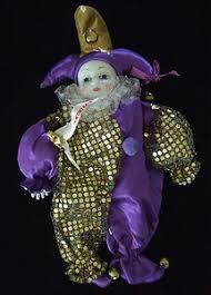 vintage harlequin doll porcelian clown doll by rosieshut on etsy
